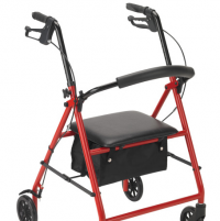 Image of Basic 4 Wheel Rollator with Seat & Brakes
