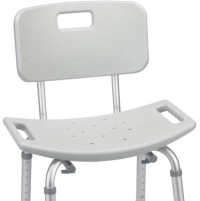 Image of Deluxe Aluminum Bath Chair With Back