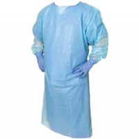 Image of Isolation Gown, Blue, Slipover/Tie Back