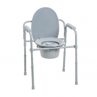 Folding Steel Commode front